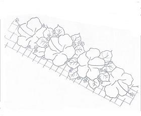 desenho de hibiscos