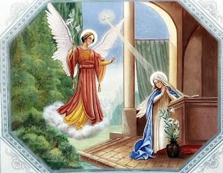 Anjo Gabriel na Igreja Nossa Senhora das Dores, Santa Maria (RS)
