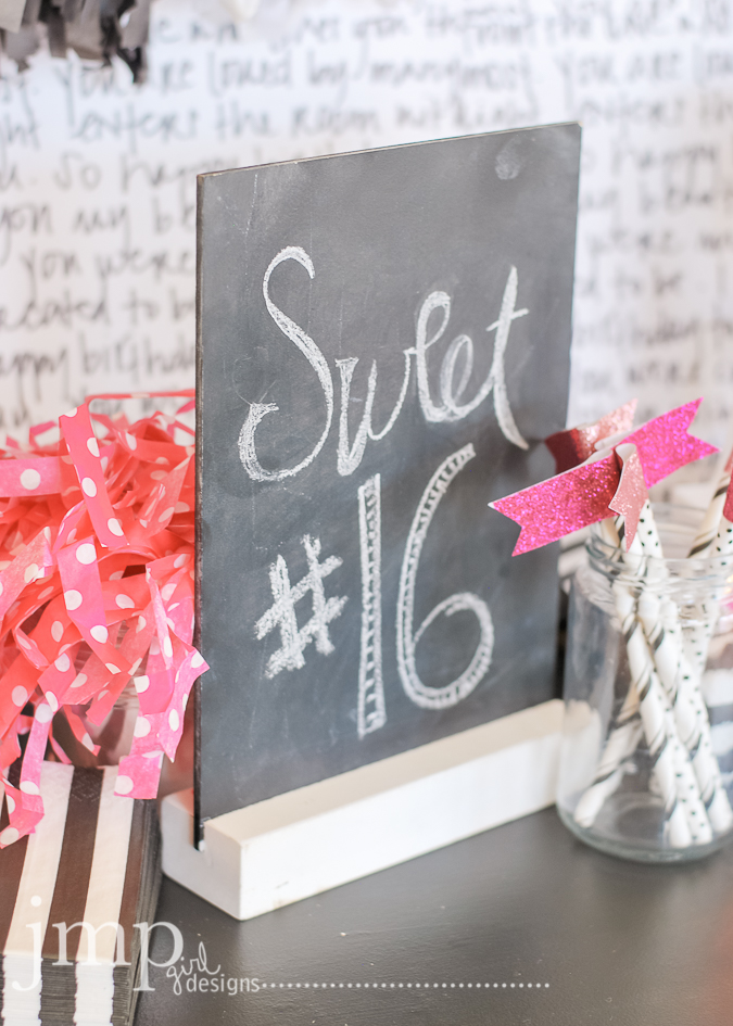 Sweet Sixteen Marquee Love | @jamiepate How to celebrate a meaningful birthday and decorate a party Heidi Swapp Marquee Love style