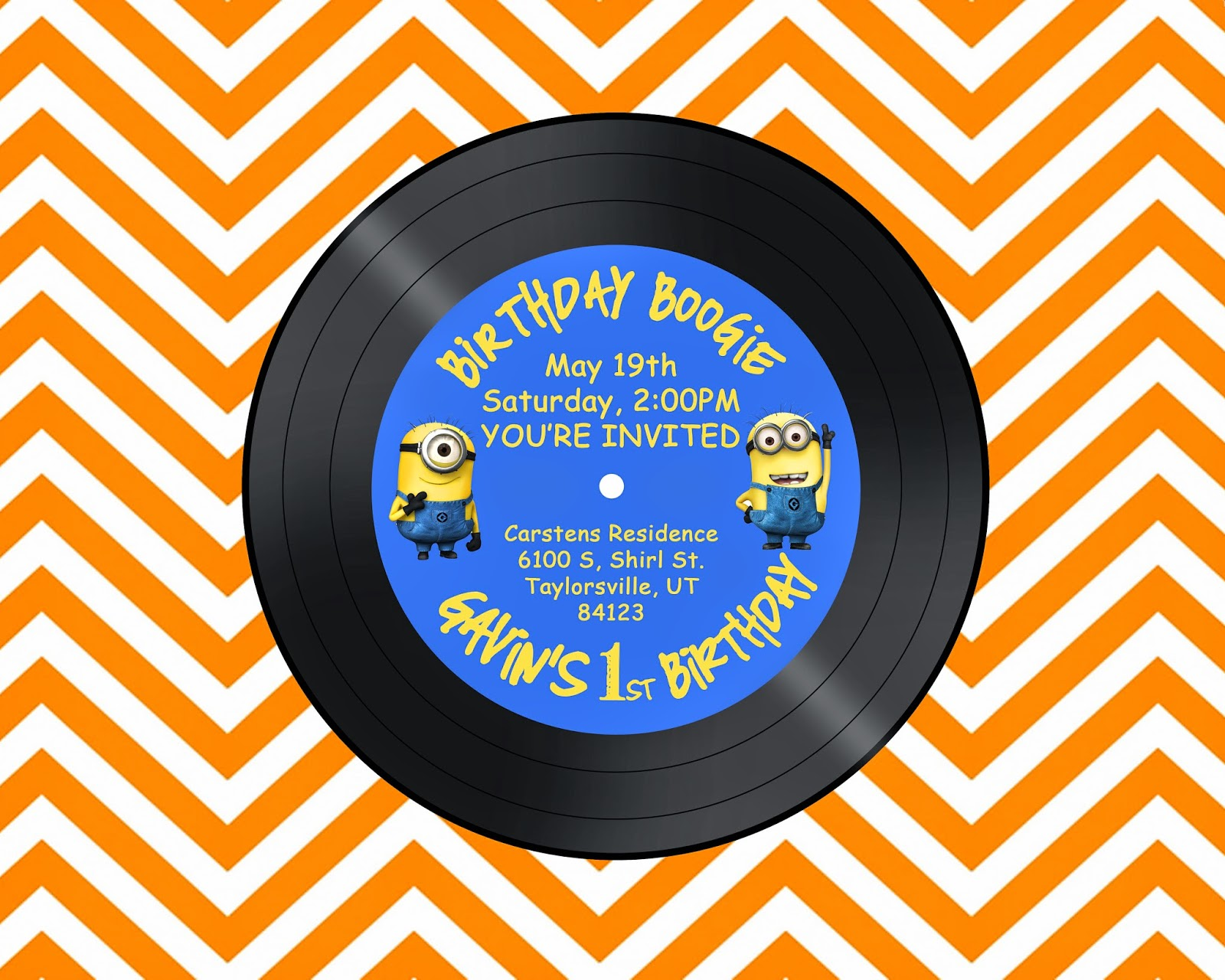 Despicable Me Invite, Minion Invite