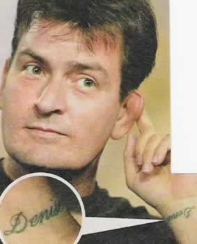 Cute tattoo pictures charlie sheen tattoos picture for Charlie s tattoo