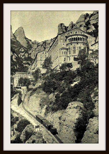 basilica de montserrat monasterio cremallera tren