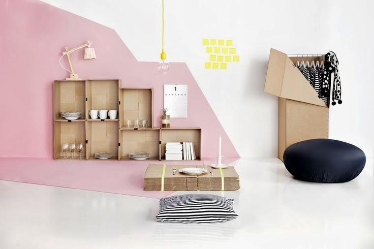 Muebles de Cartón, Estantes Decorativos