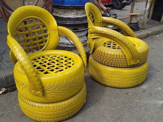 recyclage pneu
