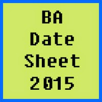 BZU Multan BA Date Sheet 2016