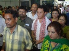 Bimal Gurung at Bagdogra airport