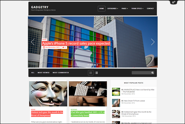 Gadgetry Theme Wordpress Terbaik