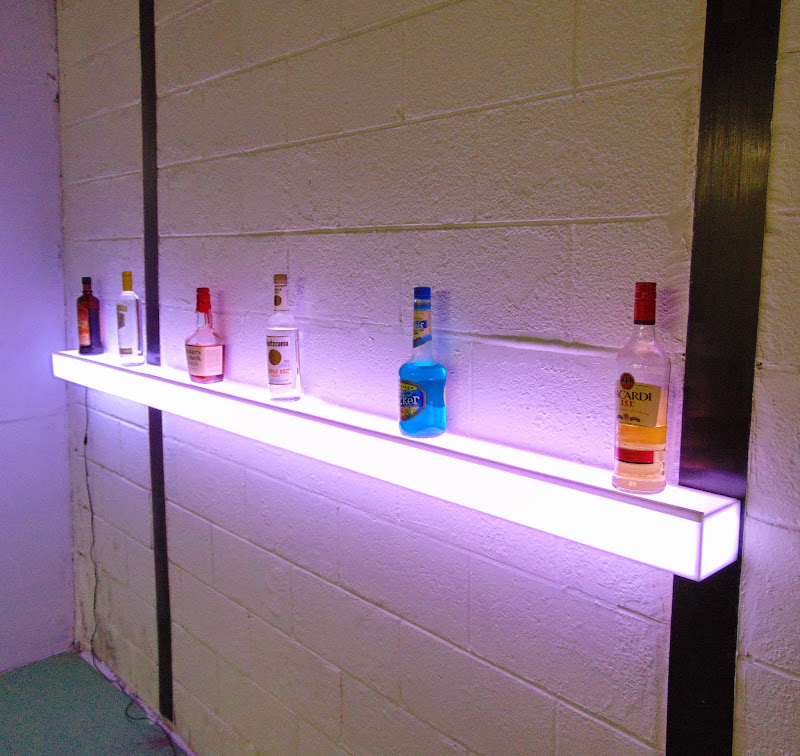 Light-Up Floating Wall Shelf