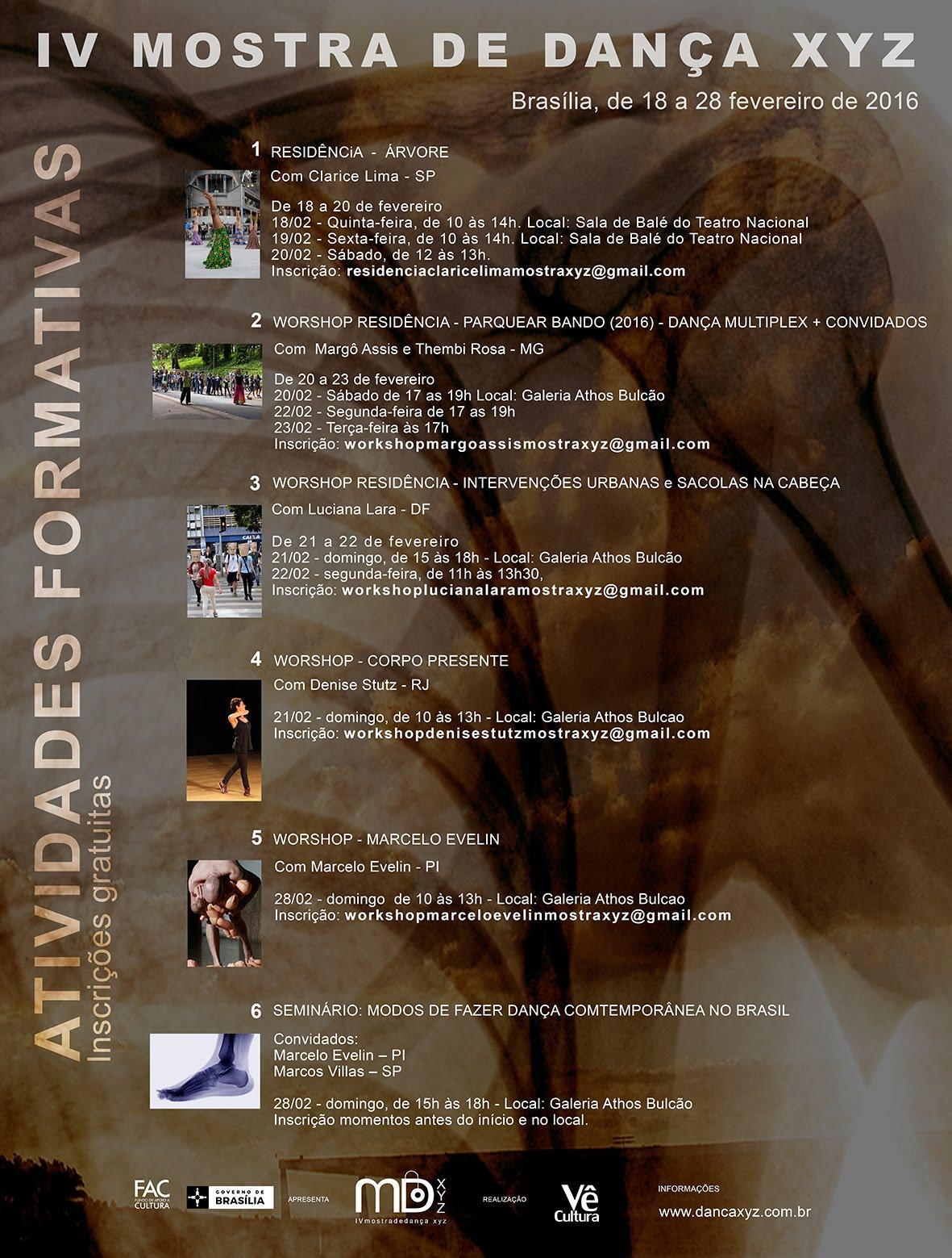 Anti Status Quo realiza workshop residencia sobre intervenções urbanas na IV Mostra de Dança XYZ