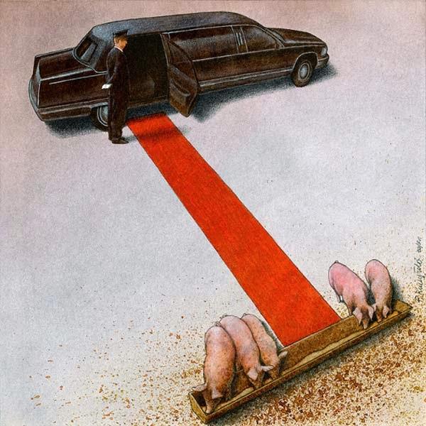 Ilustración que critica a la sociedad