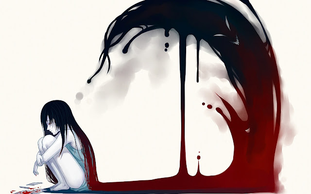 Lonely crying girl anime hd wallpaper desktop pc wallpaper a64
