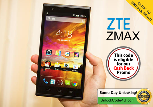 Factory Unlock Code for ZTE ZMax