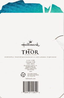 Back of Thor 2011 Pop up birthday card from Hallmark