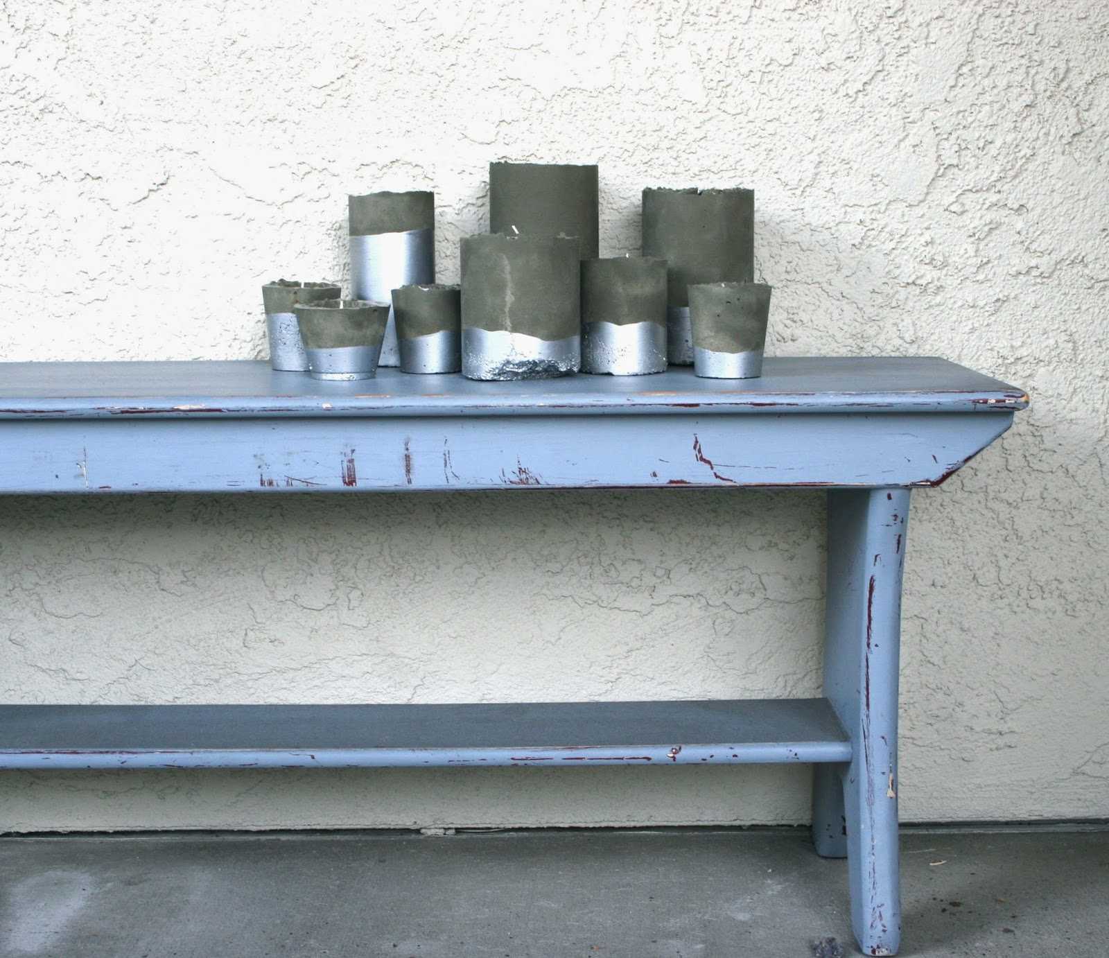 Paint For Concrete Pillars : Just a darling life diy concrete pillar votive candle