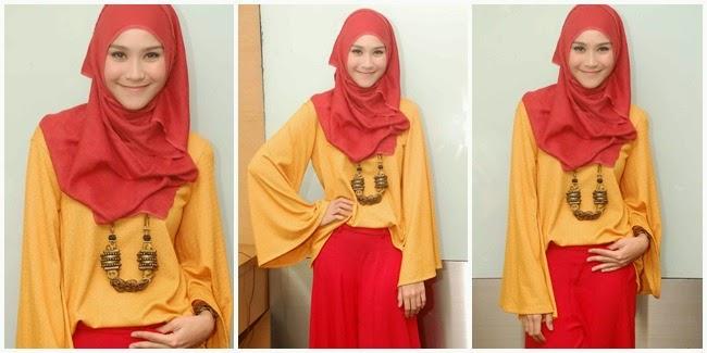 Gambar Cara Berhijab Zaskia Adya Mecca Model Jilbab Artis Cantik Indonesia