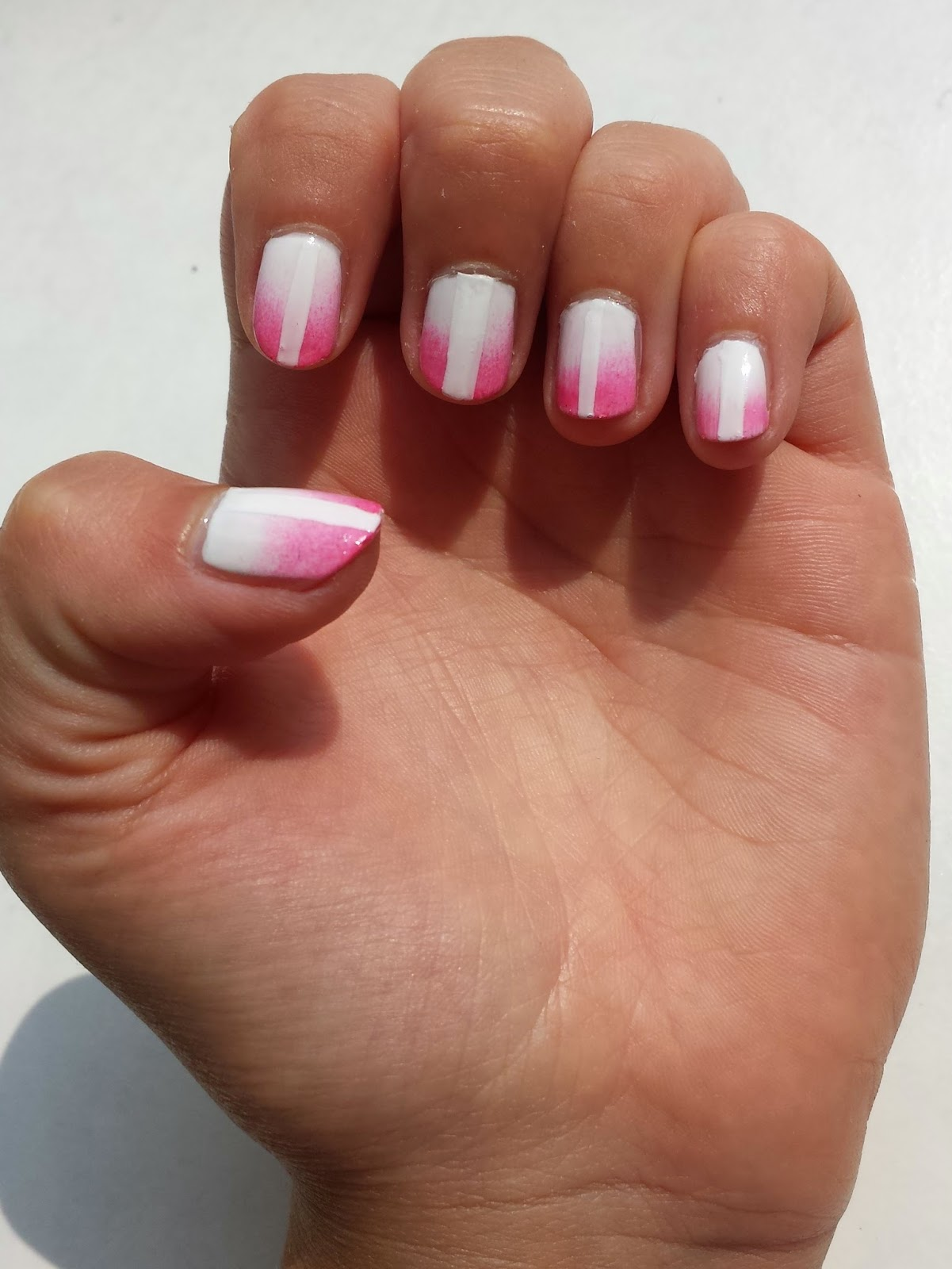 Clothes & Dreams: NOTD: gradient and tape: full nail art