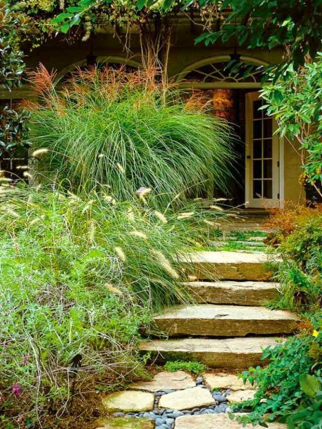 How to build a garden stairs design as a decorative element for Designing gardens with grasses