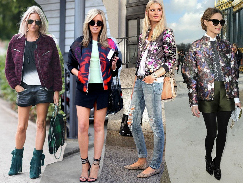Bomber Jacket Street Style Fashion Trend 2014 Outfits