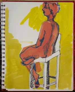 life drawing - steel sky woman