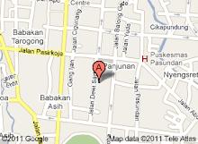 Peta Lokasi SMP Negeri 10 Bandung