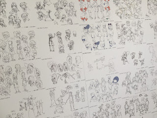 Little Witch Academia Character Design Board Wall