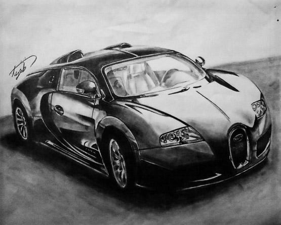 رسومات سيارات الرصاص والفحم