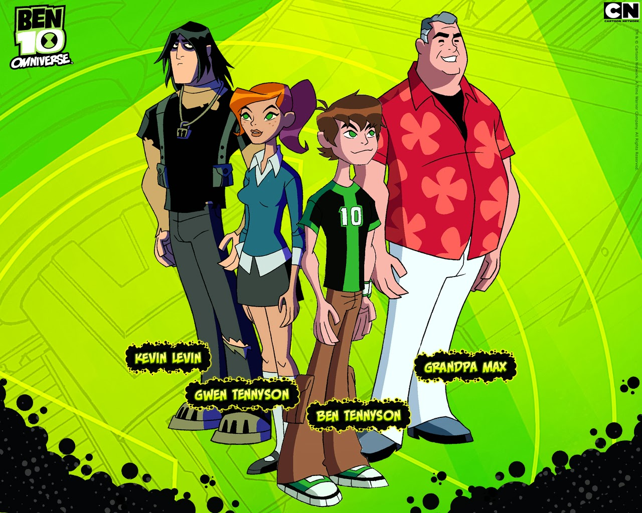 Imagem dos personagens principais do Ben-10