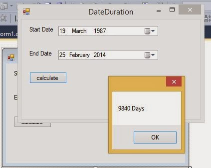 Duration between two dates
