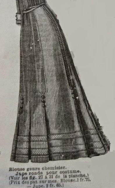 des modes patron jupe ronde pour costume la mode illustr e 1907. Black Bedroom Furniture Sets. Home Design Ideas