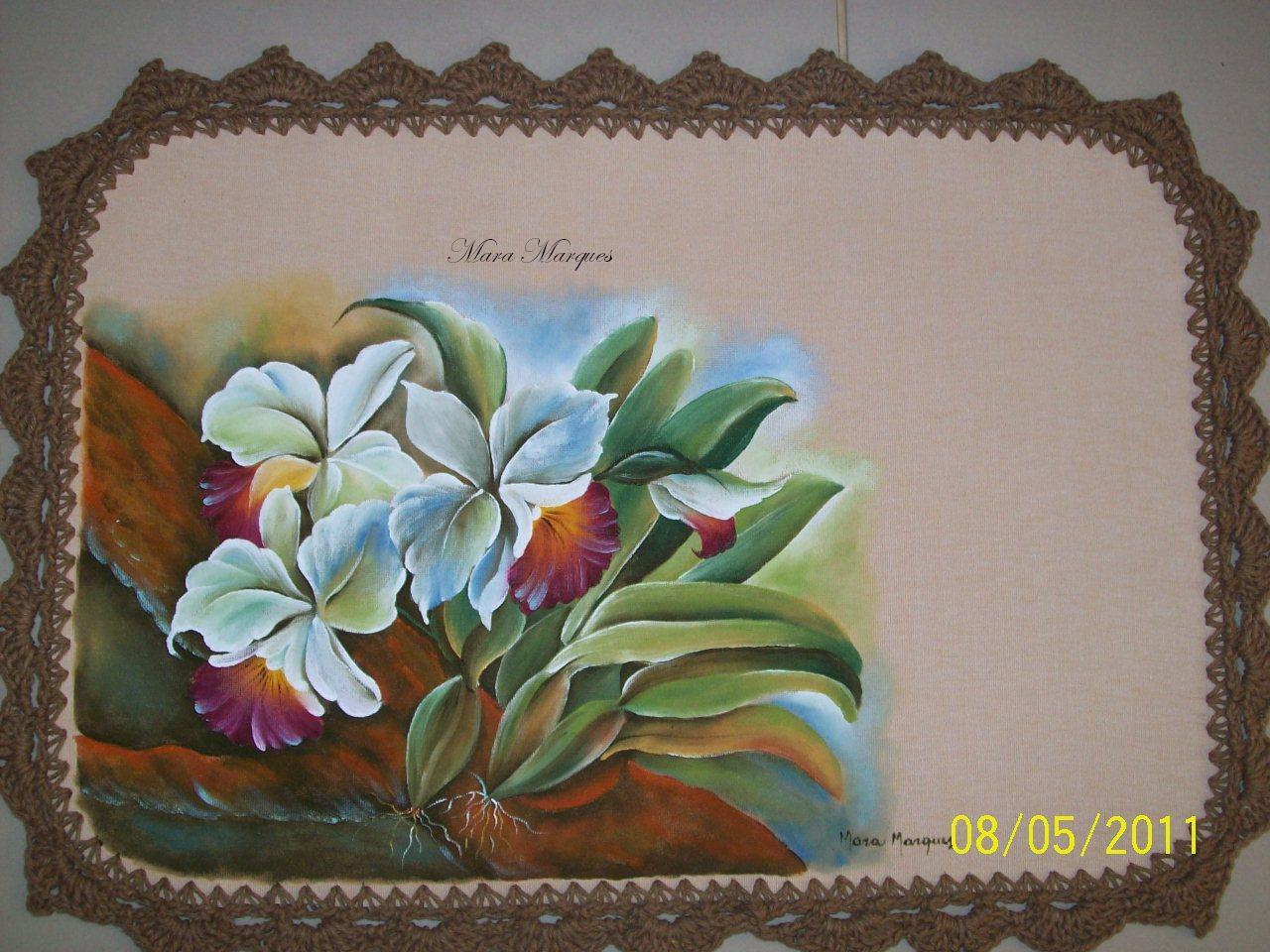 Mara Marques Pintura e Croche: Jogo de banheiro emborrachado #63412E 1280 960
