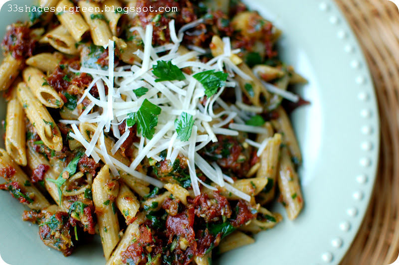 and fresh mozzarella roasted red pepper pesto penne and ridiculous ...