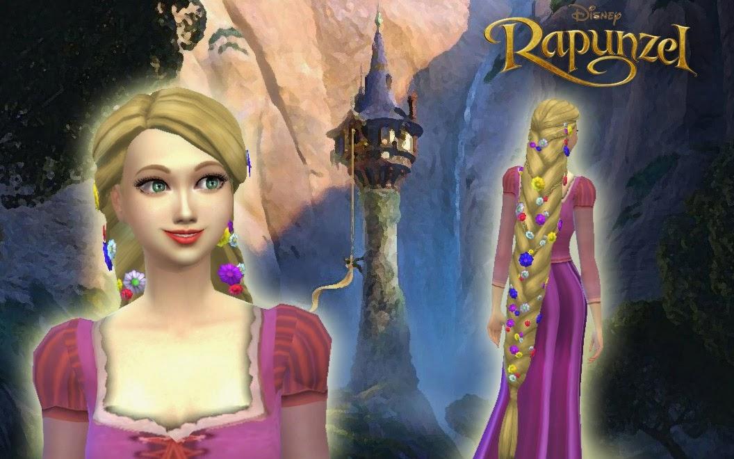 My Sims 4 Blog Kiara24 Medium Messy And Rapunzel Braid