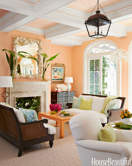 The glam pad a whimsical palm beach home by kemble interiors for Colorful whimsical living room