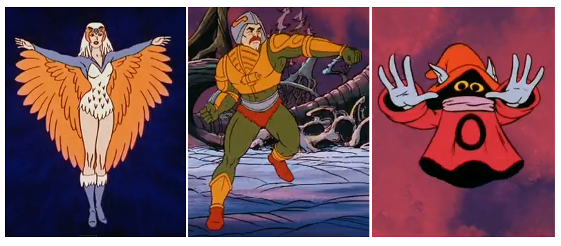 He-Man and the Masters of the Universe The Sorceress, Man-At-Arms and Orko