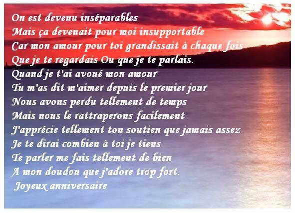 Poeme D Amour Pour Anniversaire Texte Anniversaire Sms