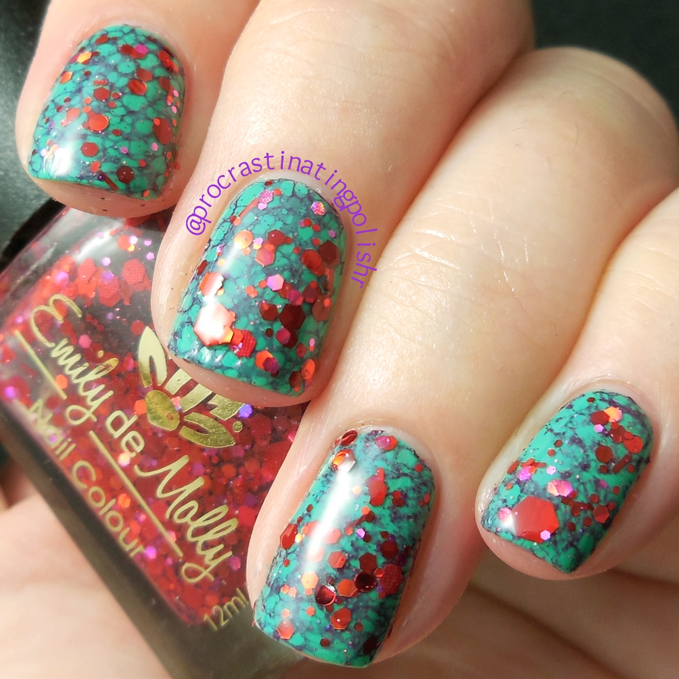 Tri Polish Tuesday - Water Spotting and Glitter