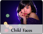 Female child fashion faces