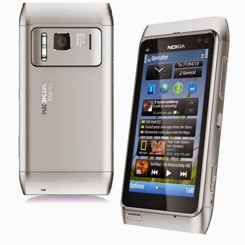 Мобильный телефон Nokia N8 Silver отличный смартфон, работающий на платформе Symbian