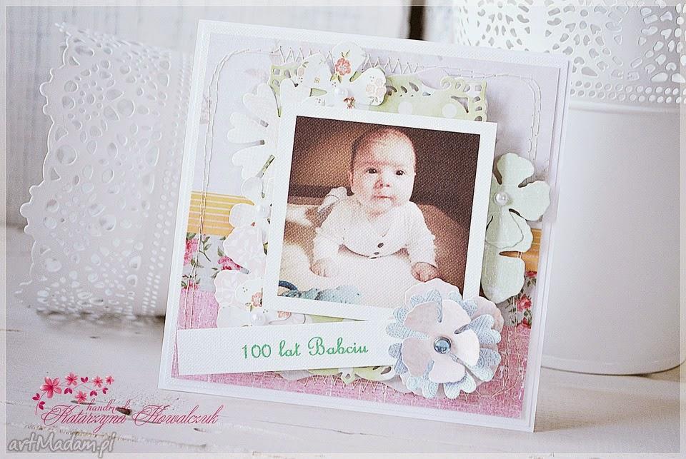 kartka ze zdjęciem dziecka scrapbooking