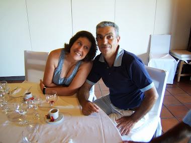 António Santos e a esposa
