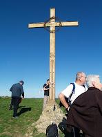 La Creu de ferro del 1900 al cim del Turó del Castell de Gurb