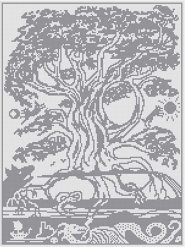Witchwolfweb Creations Charts Yggdrasil Large Chart For Cross