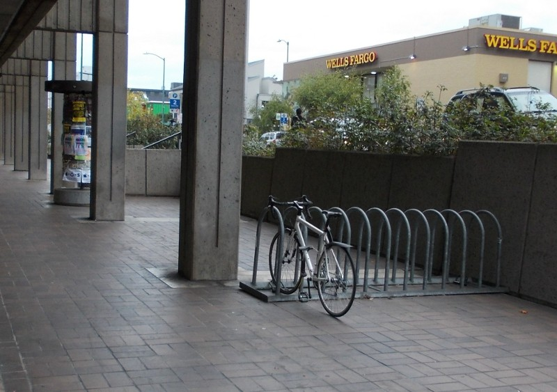 Bike rack out of way