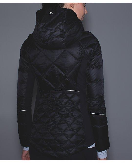 lululemon down-for-a-run jacket black