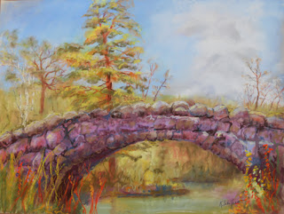 Kath Schifano, Kathy THeiss, Bridge picture, fall painting