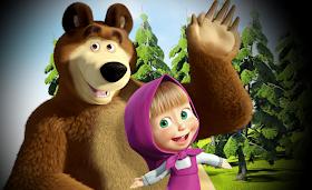 Berikut akan admin berikan gambar-gambar lucu Masha and The Bear