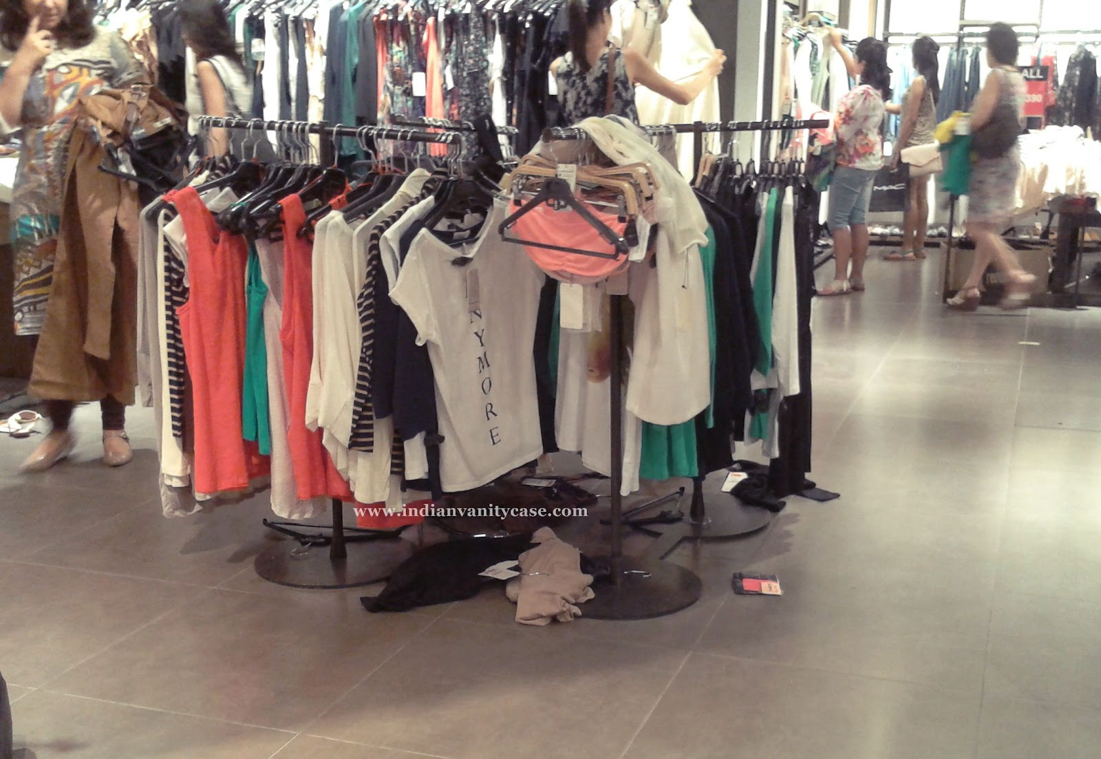Messy clothing store