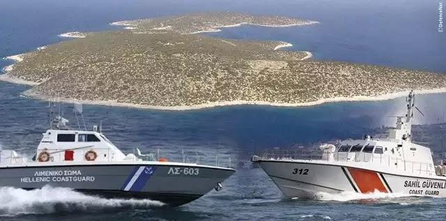 Απίστευτο βίντεο από τα Ίμια έδωσαν οι Τούρκοι: Τουρκικό πλοίο «καταδιώκει» ελληνικό!