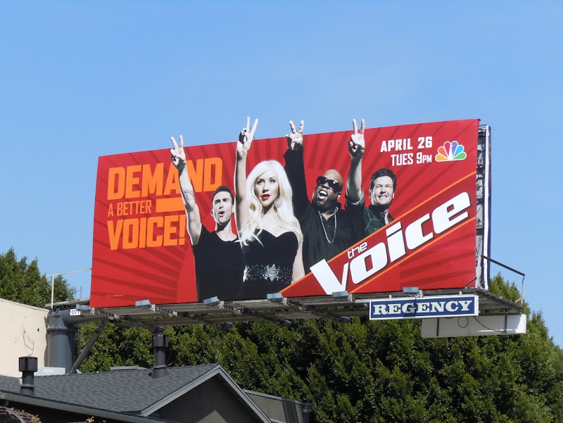 The Voice NBC billboard
