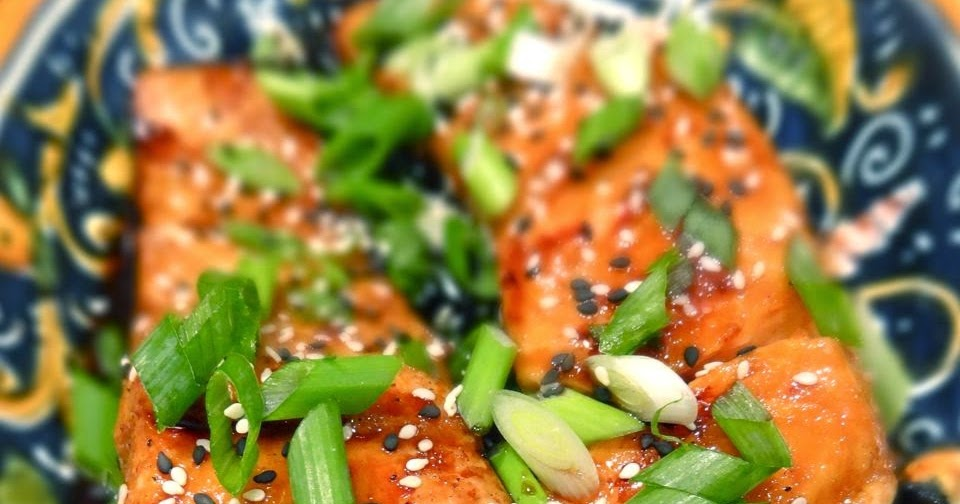 Scrumpdillyicious: Salmon Teriyaki with Bok Choy, Mushrooms & Noodle